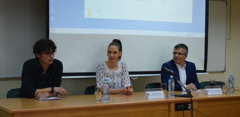 """Oдржана трибина """"У студију са Предрагом Милинковићем и Јованом Гузијан"""""""