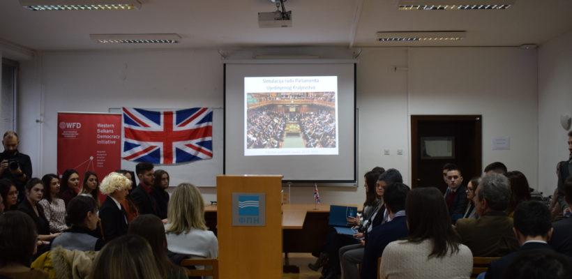 Одржана симулација рада парламента Уједињеног Краљевства