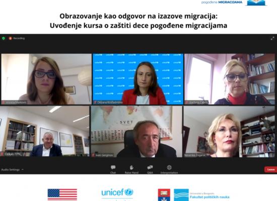 Факултет политичких наука Универзитета у Београду представио нови курс – Заштита деце погођене миграцијама