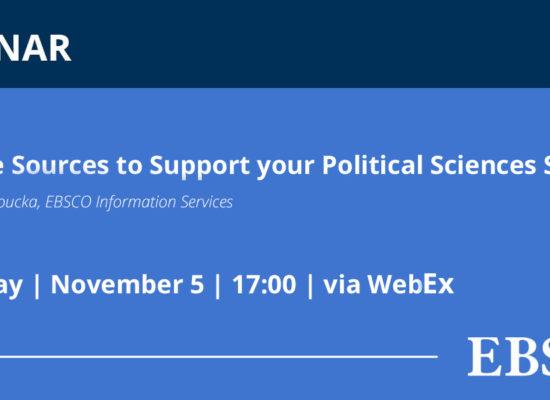 """Позив на представљање две базе података научних часописа """"Political Science Complete"""" и """"World Politics Review"""""""