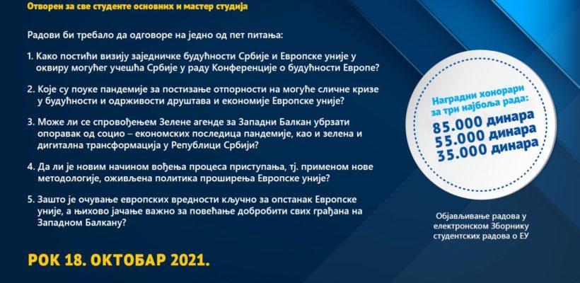 Kонкурс за избор најбољих студентских радова о ЕУ